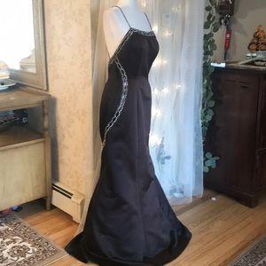 Jovani 10 Brown\Black smoke embellished long gown